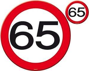 Folat B.V. Mesa y montañas Taza del 65 Cumpleaños señal de tráfico