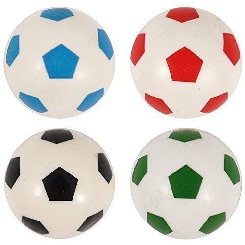 4x Flummi Dopsball Springball Fußball Weiss Bunt 3,5 cm Mitgebsel Geburtstag