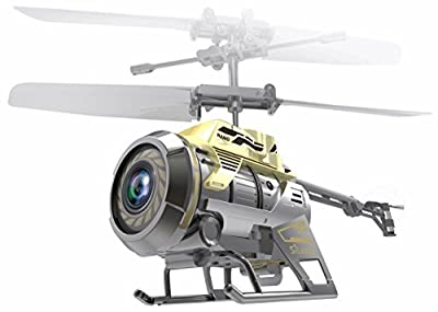 Silverlit 2.4GHz 3-Channel Spy Cam Nano Miniature Radio Control Gyro Helicopter with Video Camera (Multi-Colour)