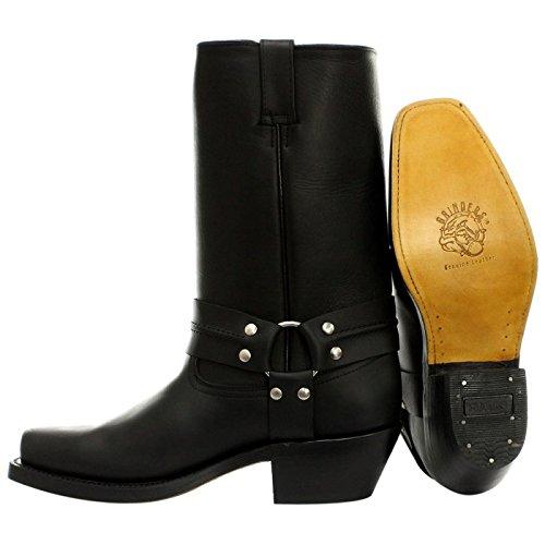 Grinders Mens 2001 Harness Hi Leather Boots Black