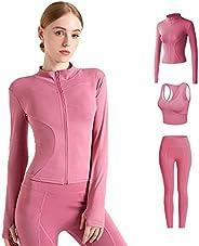 Womens Sportswear Set High Waist Gym Leggings & Sports Bra Stretch-Fit Yoga Activewear Set, 2 Pieces Set S