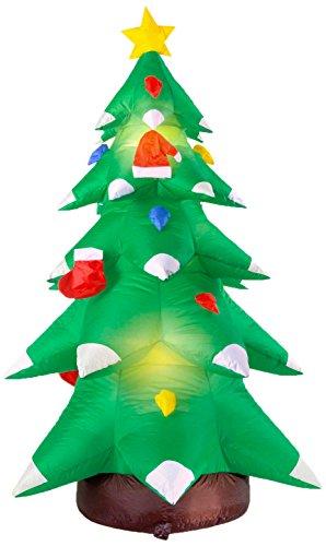 Kostüm Weihnachtsbaum Aufblasbares - Widmann - aufblasbarer Weihnachtsbaum, Dekoration mit Licht