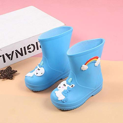 N/R Rainbow Unicorn Rain Boots Kids for Boys Rain Boots Waterproof Baby Girls Non-Slip PVC Rubber Water Shoes Children Rainboots