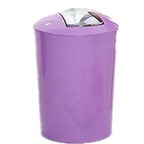 GMM® Kreative Mülltonnen Abfalleimer Mülleimer Küche Schlafzimmer Living Korb Büro Material Kunststoff spezielle 23* 35cm violett (Rad-trikots Spezielle)
