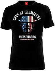 Breaking Bad - T-shirt Sons of Chemistry - Heisenberg - Noir