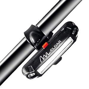 Luz de Bicicleta con LED Potente. Luz Intermitente USB Recargable con 6 Modalidades. Faro para Bici Brillante y Resistente al Agua IPX4 (DELANTERA COLOR BLANCO)