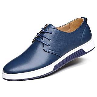 CAGAYA Herren Freizeit Schuhe aus Leder Business Anzugschuhe Atmungsaktiv Lederschuhe Oxford Halbschuhe Party Hochzeit übergrößen 38-46 (41, Blau)