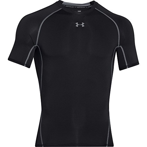 Under Armour, Ua Hg Armour Ss, Maglietta A Maniche Corte, Uomo, Nero (Black/Steel 001), M