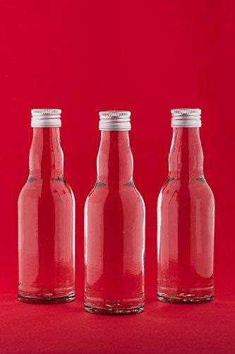 slkfactory 24 Leere Glasflaschen 200 ml KRO Likörflaschen kleine Flaschen Schnapsflaschen Essigflaschen Ölflaschen 0,2 Liter l zum selbst Abfüllen Essig/Öl Nr 250ML (24 Stück)