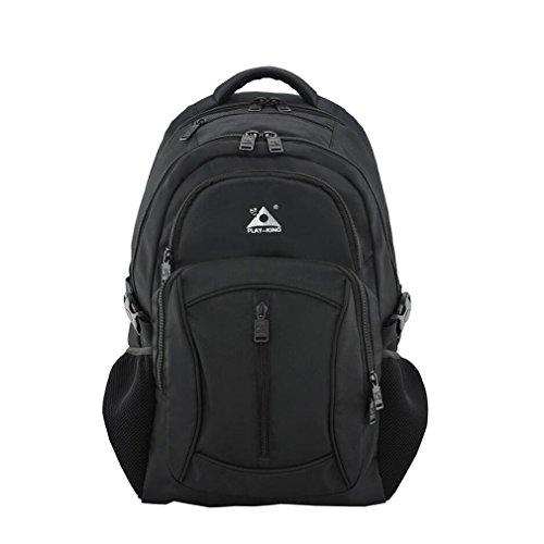 NUO-Z Outdoor-LED-Scheinwerfer Rucksack Running Bag Männer Reittasche Multifunktions Sporttasche,Black