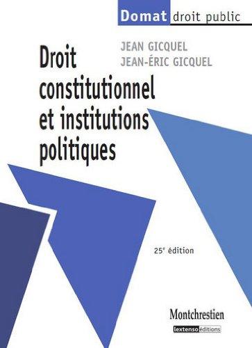 Droit constitutionnel et institutions politiques par Jean Gicquel, Jean-Eric Gicquel