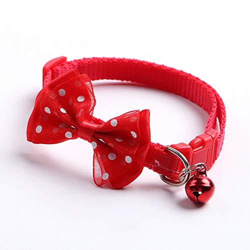 XUTXCKA Breakaway Katze Hundehalsband Schmetterling Knoten Katze Kragen verstellbare Schnalle Halskette Puppy Dog Collar Pet -