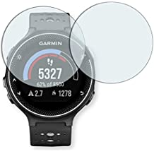 "2 x protectores pantalla Golebo para Garmin Forerunner 230. Lámina protectora adhesiva invisible ""Crystal Clear"". Fabricado en Alemania."