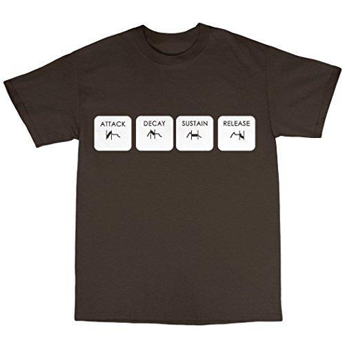 ADSR T-Shirt 100% Baumwolle Zartbitter-Schokolade
