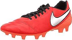 Nike Herren Tiempo Legacy II FG Fußballschuhe, Rot (Light Crimson/Total Crimson/Metallic Silver), 42 EU
