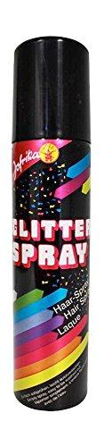 Glitter Color Haarspray - Farbspray zum temporären Haare Färben - Silber - Für Karneval oder Mottoparty in praktischer Spraydose