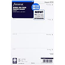 Filofax 19-68562 A5 Week on Two Pages English August 18 - July 19 Mid Year Diary