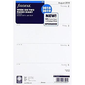 1Seite Kalendarium 19-68552 filofax Kalendereinlage 2019 Professional A5 1 Tag