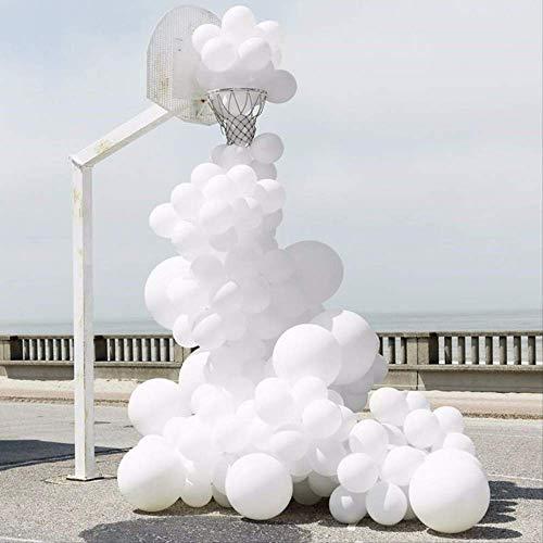 FINJ Ballon 30 Stücke 12 Zoll Gold Silber Schwarz Metall Latex Luftballons Hochzeit Dekorationen Matte Helium Geburtstagsfeier Dekoration Erwachsene 20 Stücke Weiß