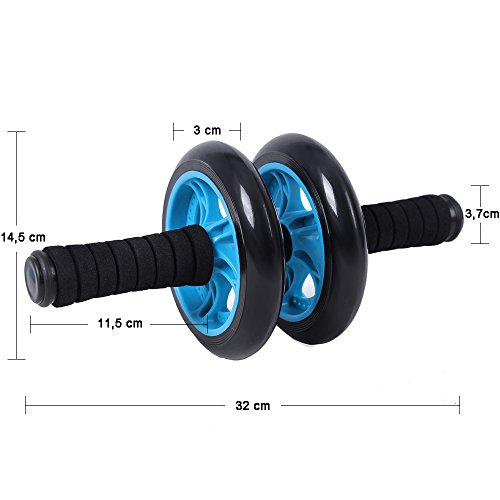 Songmics Bauchtrainer Roller AB Wheel mit Knie Pad Blau SPU75P - 4