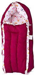 Jack & Jill Baby Bedding Set/Baby Bed/Baby Carrier/ Sleeping Bag/ New Born/Just Born - Floral Magenta (S)