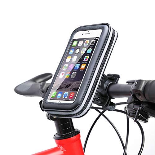 VANWALK Fahrrad Handyhalterung Wasserdicht, Fahrradlenkertasche 360 Grad-Drehung für Smartphone unter 5.5 Zoll, Schwarz