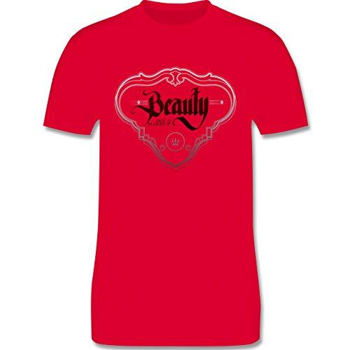 Statement Shirts - Beauty isn´t Makeup - Herren Premium T-Shirt Rot
