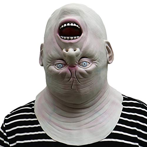 Halloween Gruselige Maske, Horror Geformten Umgekehrten Kopf Lustige Süße Alien Alter Mann Kopf Set Zimmer Spukhaus Zombie Reihe Zombie Cosplay Make-up Bühne Maske