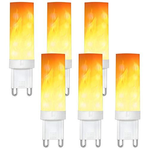 0.5W LED Flammen Lampe PC + Keramik Flammenfarbe 10lm 36X2835 SMD AC 220-240V ()
