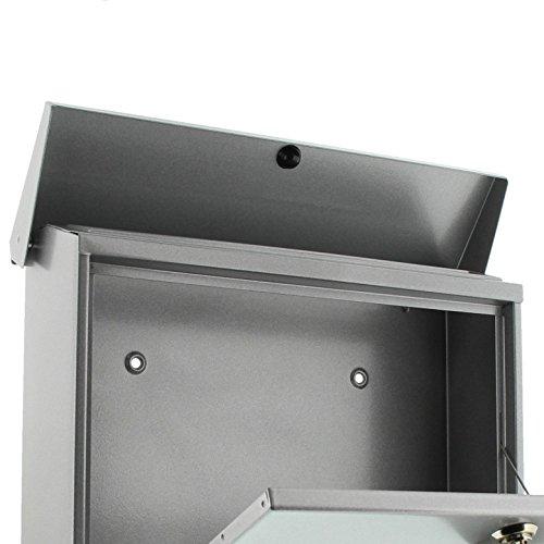 BURG-WÄCHTER, Briefkasten-Set mit Zeitungsbox A4 Einwurf-Format, Verzinkter Stahl, Set Vario Si, Silber - 3