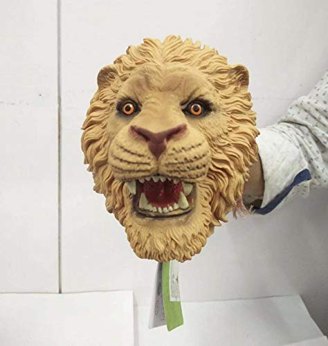 VikriDa Lion Head Realistic Latex Rubber Animal Hand Puppet Glove Classic Toy 10 inch