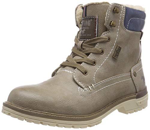 MUSTANG Unisex-Kinder Schnür-Booty Klassische Stiefel, Elfenbein (Ivory 243), 34 EU