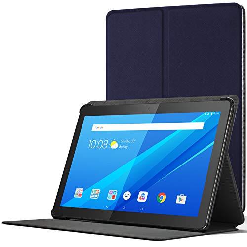 cover per tablet lenovo Forefront Cases Cover per Lenovo Tab M10 | Cover Custodia Protettiva Magnetica e Supporto per Lenovo Tab M10 10.1 pollici | Sottile Leggera | Blu Marino