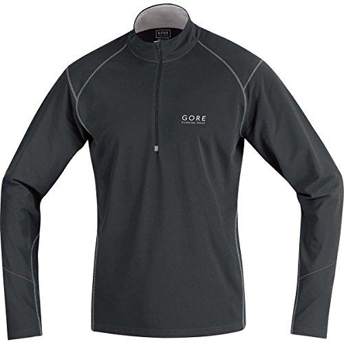 Gore Running Wear, Cálida Camiseta Térmica De Manga Larga Para Correr Para Hombre, Negro/Gris Metálico, XL