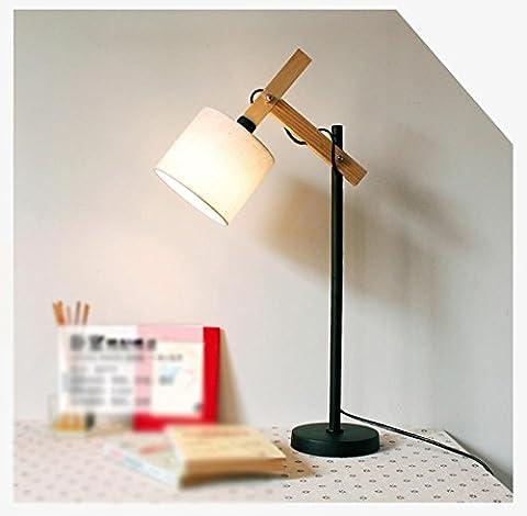 GBT moderne lampe de table simple européenne de chevet Bureau lampe de bureau rétro Bois lampe? Lampes LED, lumière chaude, éclairage Blanc, lustres, Lampes de lumières d'intérieur, extérieur, Lampes de mur?