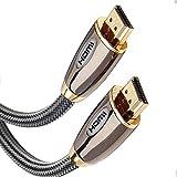Hdmi Kabel 2.5m LoveSelfy Prämie V2.0 Schnell Geschwindigkeit Ultra HD 3D 4K @60Hz 1080p 2160p 18Gbps ARC Highspeed mit Ethernet Extender Verlängerung - 2.5 Meter