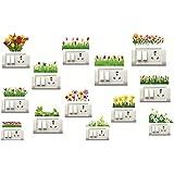 DecorVilla PVC Vinyl Film Switch Board, Wall Sticker (Multicolour) Set of 13