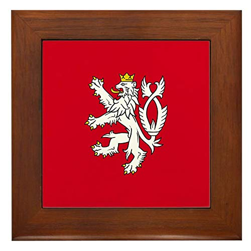 CafePress Bohemian Lion Gerahmte Fliesen, dekorative Fliesen Wandbehang -