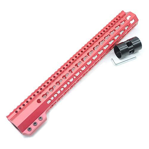 Trirock Taktische Taktische 15 Zoll Keymod Handschutz AR15 M4 M16 Stahl Zylindermutter passend für .223/5.56 Gewehre
