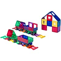 Playmags 50 Piece Accesory Set: Now with Stronger Magnets, Sturdy, Super Durable with Vivid Clear Color Tiles
