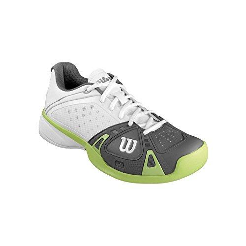 Scarpe Wilson Uomo Rush Pro Clay breve bianca/grigia/verde 2014, bianco bianco