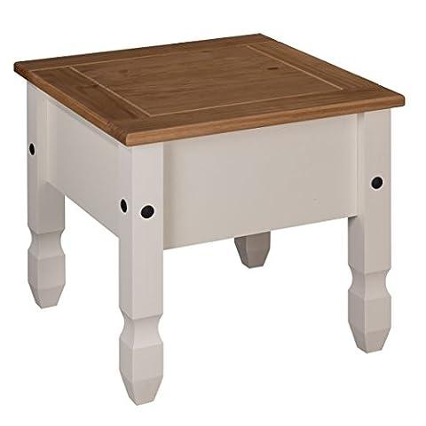 Mercers Furniture Corona Painted Lamp Table - Cream / Pine