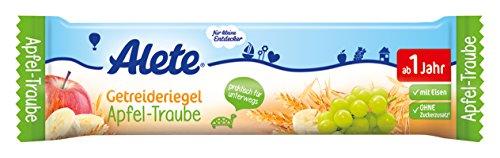 Alete Getreideriegel Apfel-Traube, 18er Pack (18 x 25 g)