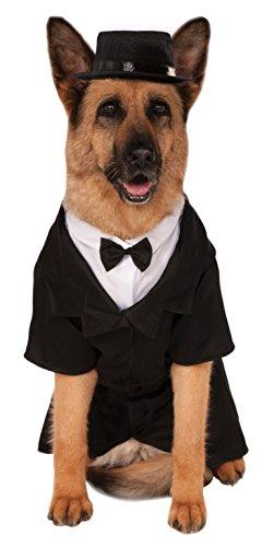 (Rubies Dapper Hund Pet Kostüm, XXXL, schwarz)