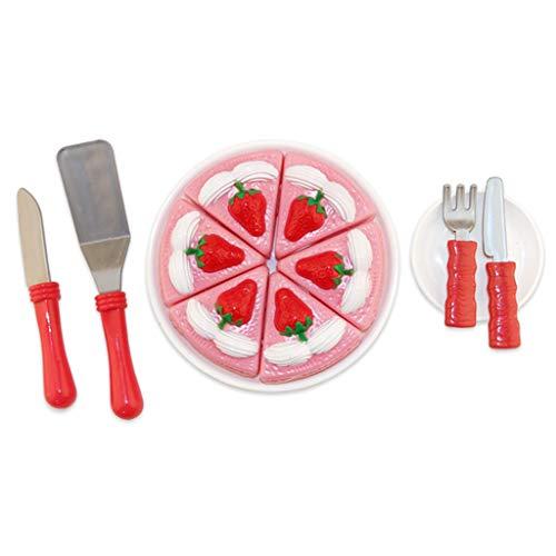 rdbeer Geburtstagstorte Mit Geschirr \u0026 Dish Kids Pretend Play Toy ()