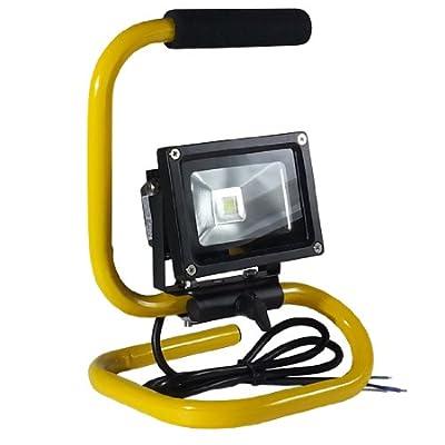 V-TAC LED Fluter Baustrahler Scheinwerfer Strahler 10 Watt mit Ständer IP65 6000K Weiß von V-TAC bei Lampenhans.de