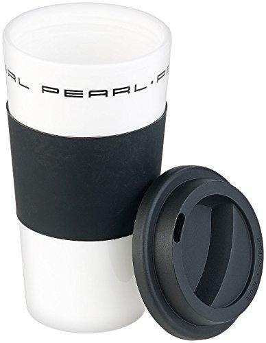 PEARL Teebecher: Coffee-to-go-Becher mit Deckel, 475 ml, doppelwandig, BPA-frei (Kaffeetassen für unterwegs) - Überfüllten Bus