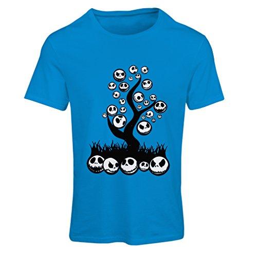 Frauen T-Shirt Scary! (XX-Large Blau Mehrfarben)