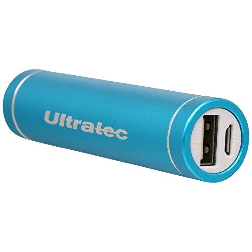 Ultratec Powerbank / portables Ladegerät / externer Akku für Smartphones und Tablets, 3200 mAh, Blau - Lippenstift-port