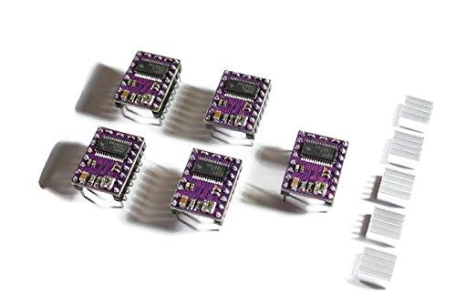 5x DRV8825 Schrittmotor-Treiber-Modul mit Kühlkörper, z.B. für RAMPS 1.4, CNC-Shield, 3D Drucker, Prusa - Treiber-unterstützung